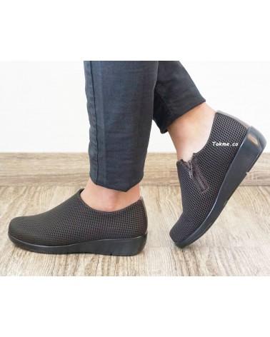 Callos o Juanetes sin dolor. Zapatos para dama sin puntos de presión en los pies. 6541 Medisofty Café
