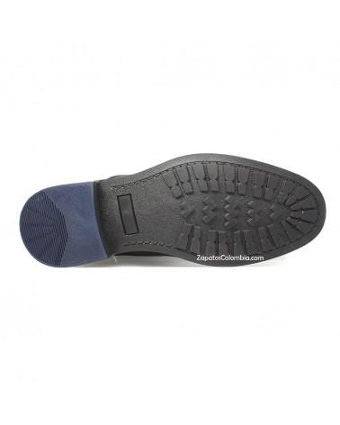 San Polos Bota cuero casual Hombre en ZapatosColombia.co Negra 3147-5, suele en TR, suave, flexible y resistente.