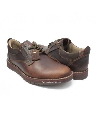 San Polos Zapato en cuero, casual para hombre en ZapatosColombia.co, Tono al natural café 3154-4