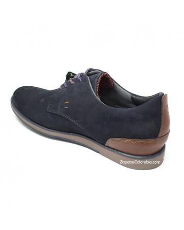 San Polos Zapato en cuero Nobuck, casual para hombre en ZapatosColombia.co, Azul 3106-3