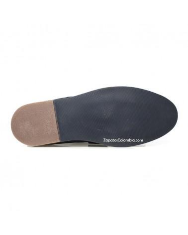 San Polos Zapato en cuero Nobuck, casual para hombre en ZapatosColombia.co, Azul 3106-5 Suela en TR.