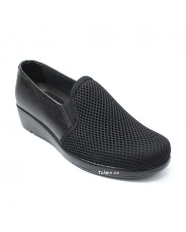 Callos y Juanetes sin dolor con Zapatos muy suaves Medisofty para Dama. 6525 Negro. Suaves Dama, en Cuero y Malla, Negro 6525