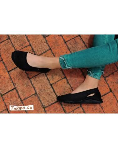Tenis balerina, suaves, livianos y flexibles, para Chicas. 2703 - negro