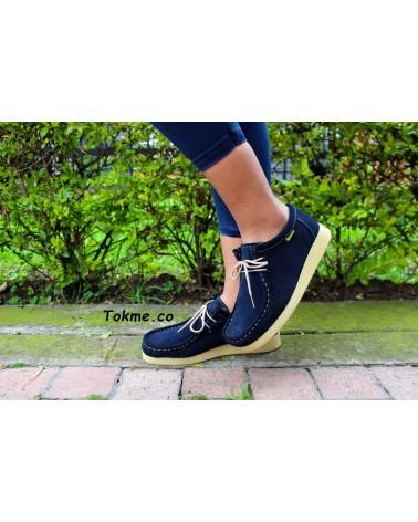Zapatos Abuelos Forche Wallabies Westland Azul 0007-6005