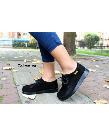 Zapatos Wallabies Abuelos Forche Westland Negro 0007-6001